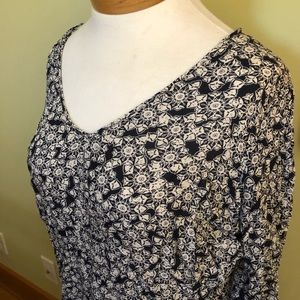 Lucky Brand Tops - Lucky Brand Blue Floral Long Sleeve Blouse